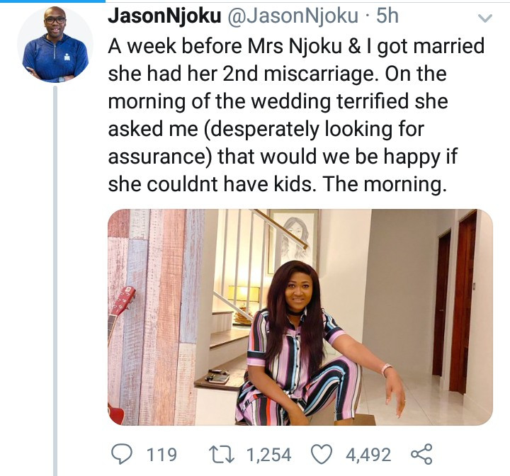 """Nothing is perfect"" iROKOtv boss, Jason Njoku narrates the difficulties his wife endured to have their three kids"