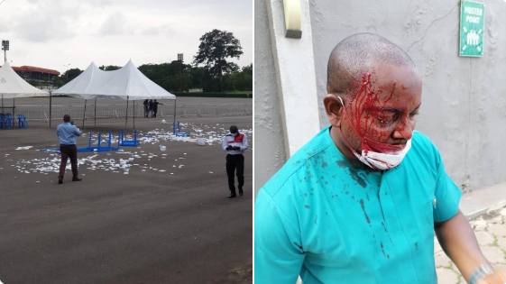 Chairmanship election of the Nigerian Medical Association ends in violent clash in Enugu (videos/photos)