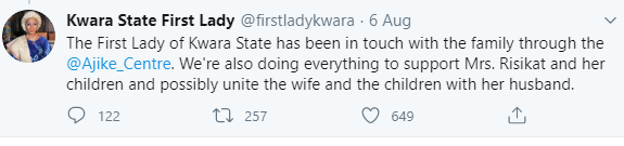 Kwara governor?s wife offers to help blue-eyed mum and kids abandoned due to their eye colour