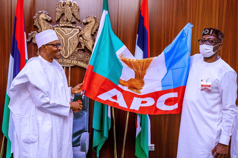 President Buhari meets Edo APC governorship candidate, Osagie Ize-Iyamu  (photos)