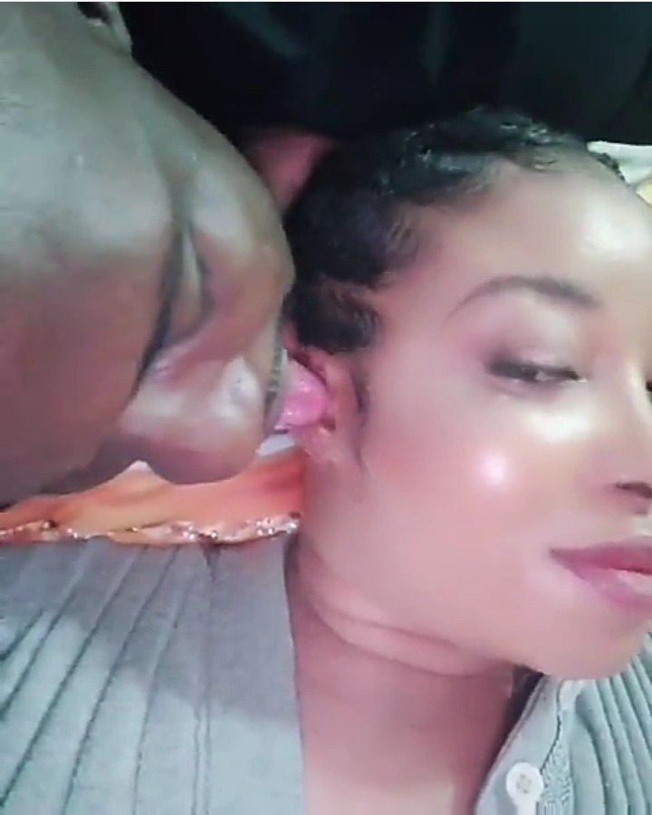 Liz Anjorin shares video of her husband licking her ears to assure those spreading divorce rumours that her marriage is solid (video)