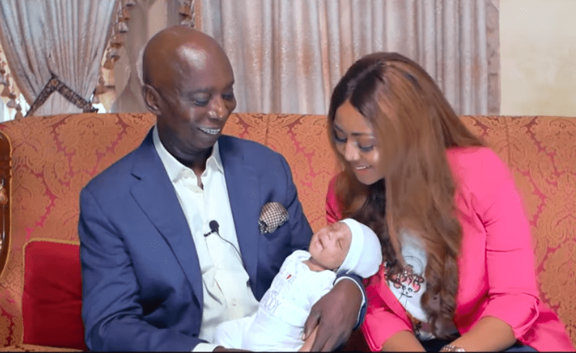 Regina Daniels and husband, Ned Nwoko, finally reveal their son