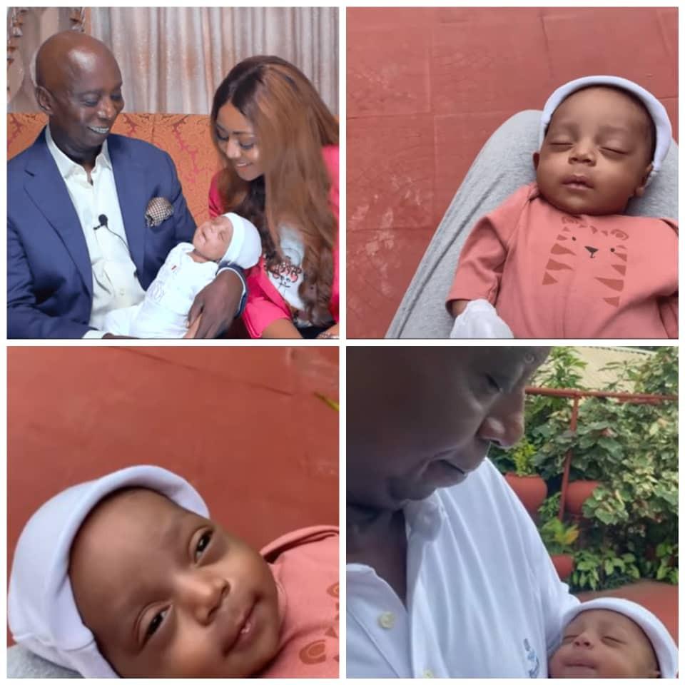 Regina Daniels and husband, Ned Nwoko, finally reveal their son