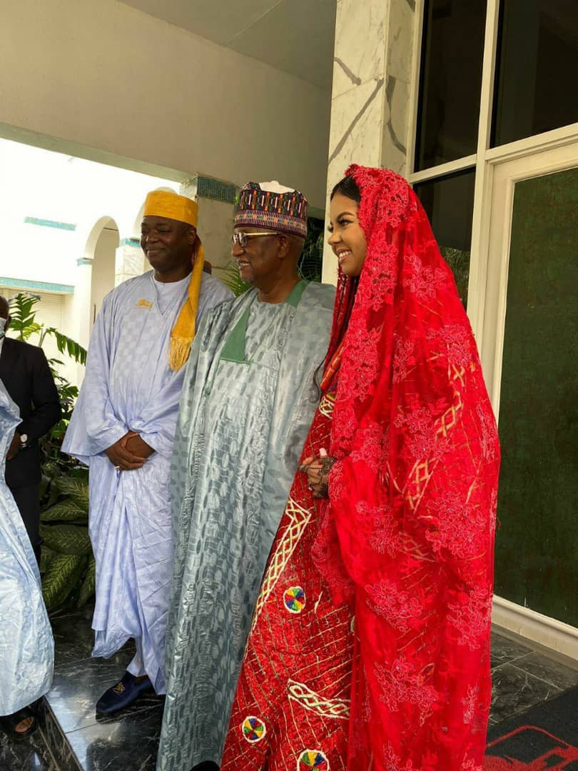 Photos from the Nikkai of billionaire daughter, Adama Indimi and Kogi prince, Malik Ado-Ibrahim