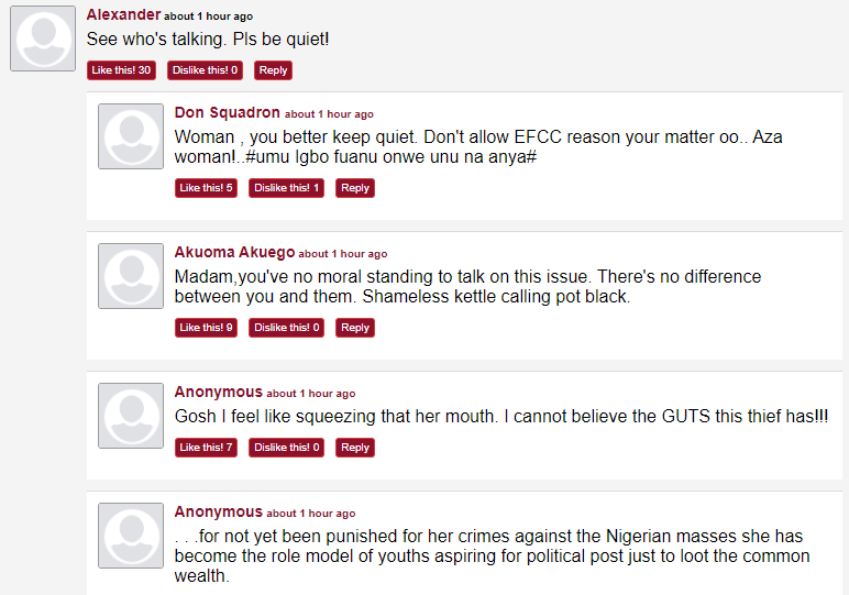 Nigerians react to Diezani Alison-Madueke saying Yahoo boys have become role models in the society