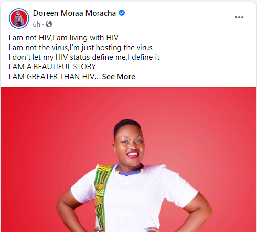 I am not HIV, I am living with HIV - Kenyan communication executive, Doreen Moracha who has been living with HIV for 28 years writes