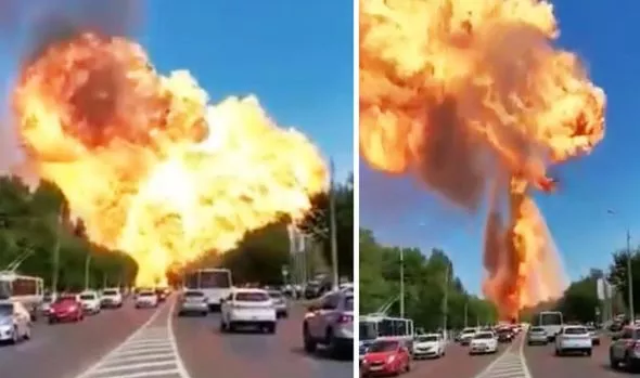 At least 13 injured as massive explosion erupts from gas station in Russia  (photos/video)