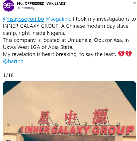 Whistleblower uncovers horrific abuse Chinese company in Aba allegedly subject their Nigerian staff to (photos)