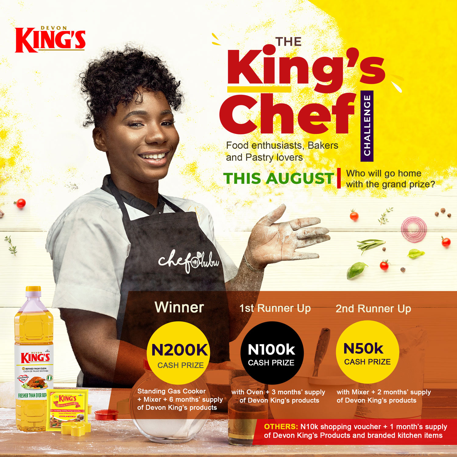 Up to 1 million naira worth prizes up for grabs in the Devon King?s #TheKingsChef challenge!