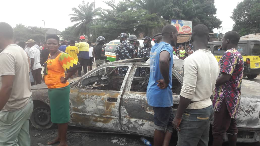 Petrol tanker explosion in Imo state leaves one dead and three others injured (graphic photos)