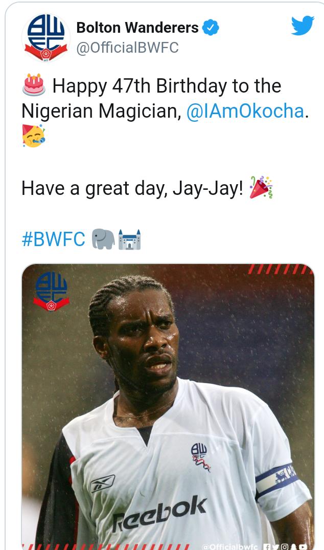 FIFA, CAF, NFF and the football world celebrate Jay Jay Okocha as he turns 47
