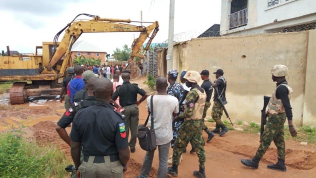House of architect who demolished Enugu Airport fence destroyed (photos)