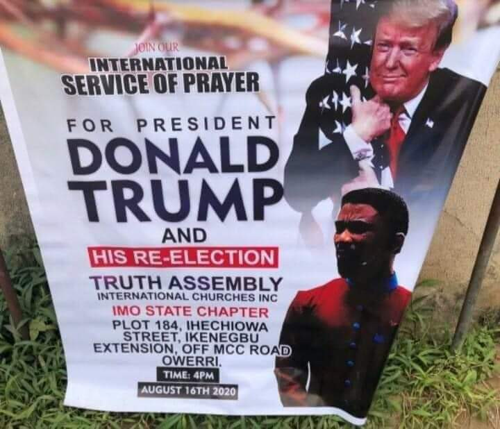 Imo pastor set to hold special prayer for Donald Trump