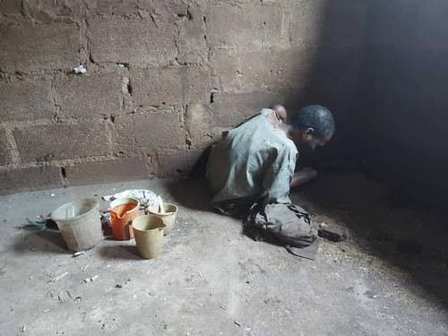 Police rescue another man chained by his father in Kano (photos/video)