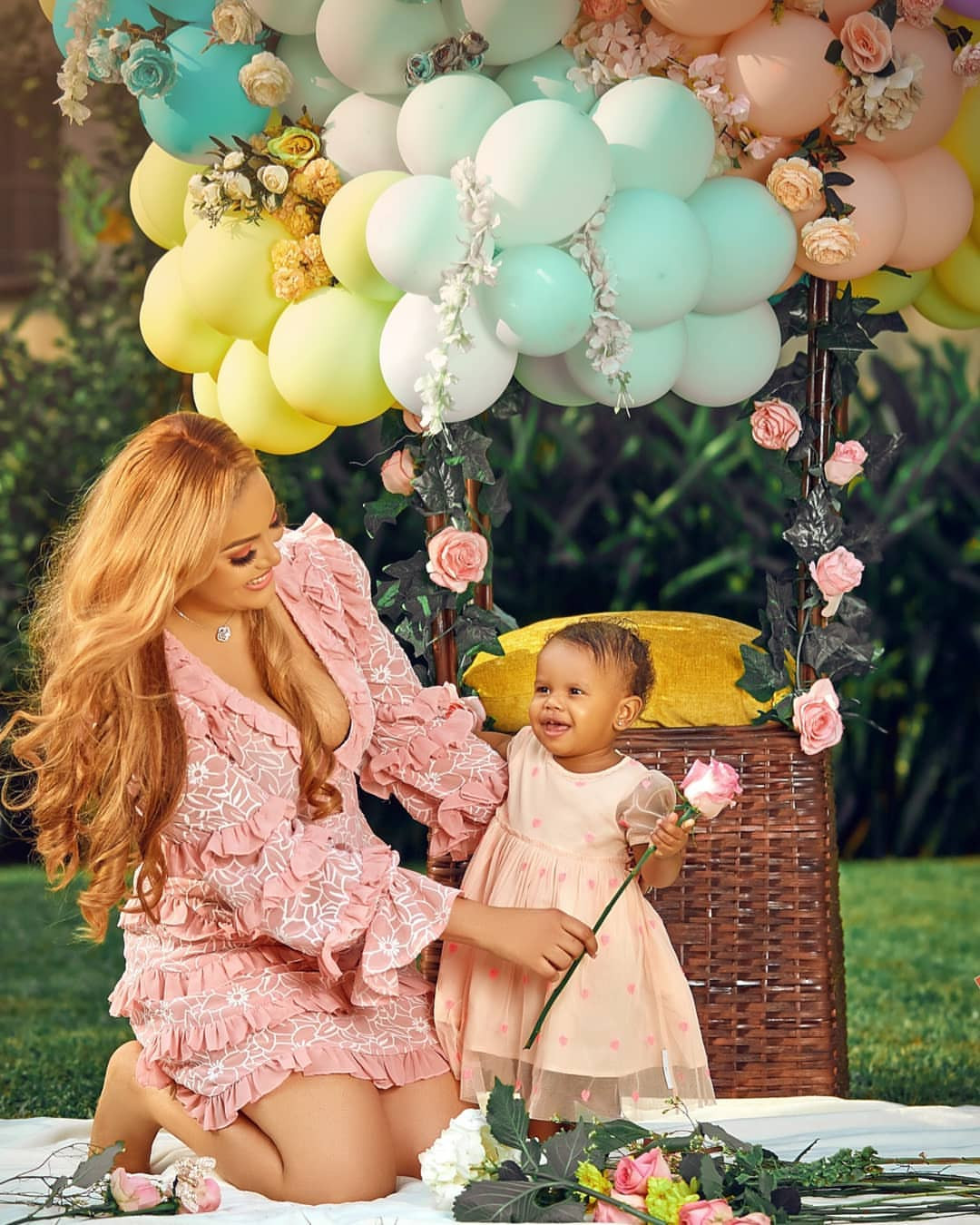 Ex-model and designer, Sarah Ofili and hubby celebrate their daughter on her 1st birthday (photos)