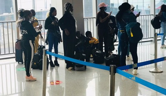 Nigerian girls stranded in Lebanon return home (photos)