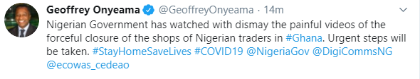 FG reacts to viral video showing forceful closure of shops owned by Nigerian traders in Ghana