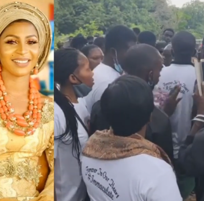 Nigerian lady crushed to death by a tanker in Lagos just weeks to her wedding, laid to rest (photos/video)