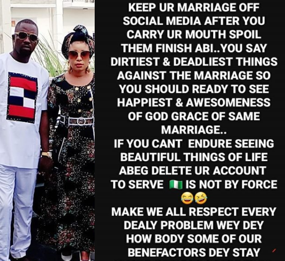 Actress Lizzy Anjorin responds to those asking her to keep her marriage away from social media