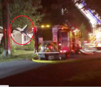 Plane crashes into a house near airport in Connecticut
