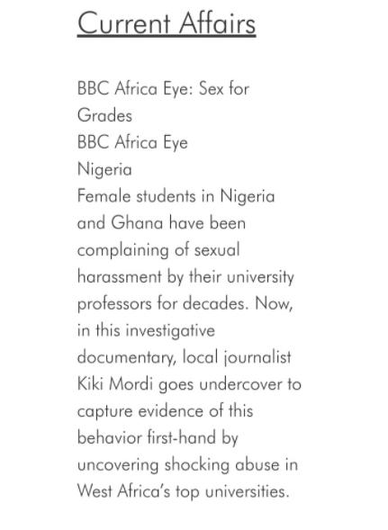 Nigerian journalist, Kiki Mordi