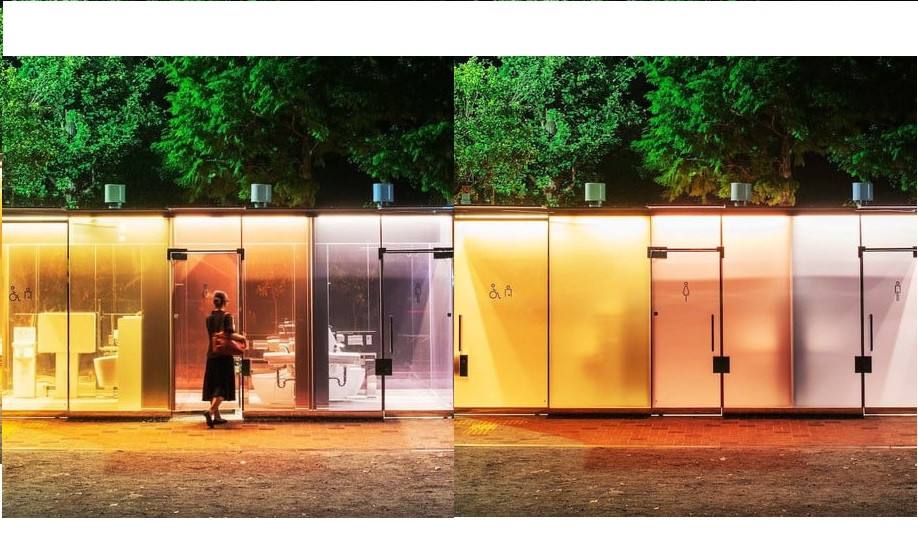 Tokyo installs new transparent public restrooms?that magically block people?s view once the door is locked (Photos)