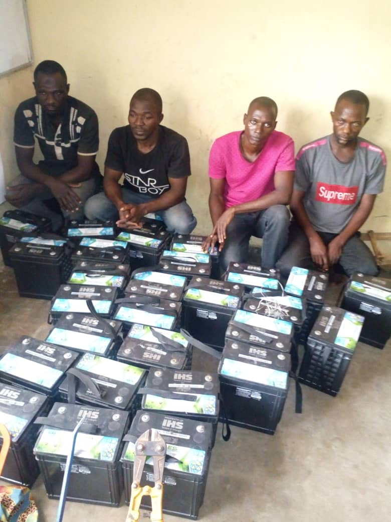 Abuja-based mast vandals arrested in Gombe