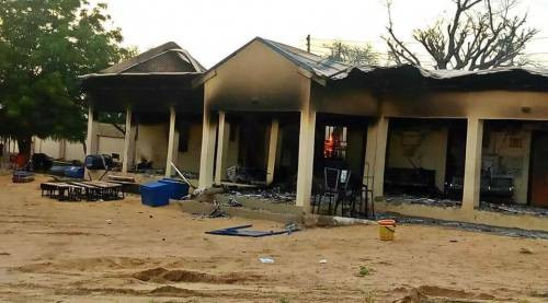 Boko Haram members attack community in Borno state; raze hospital and Telecoms mast