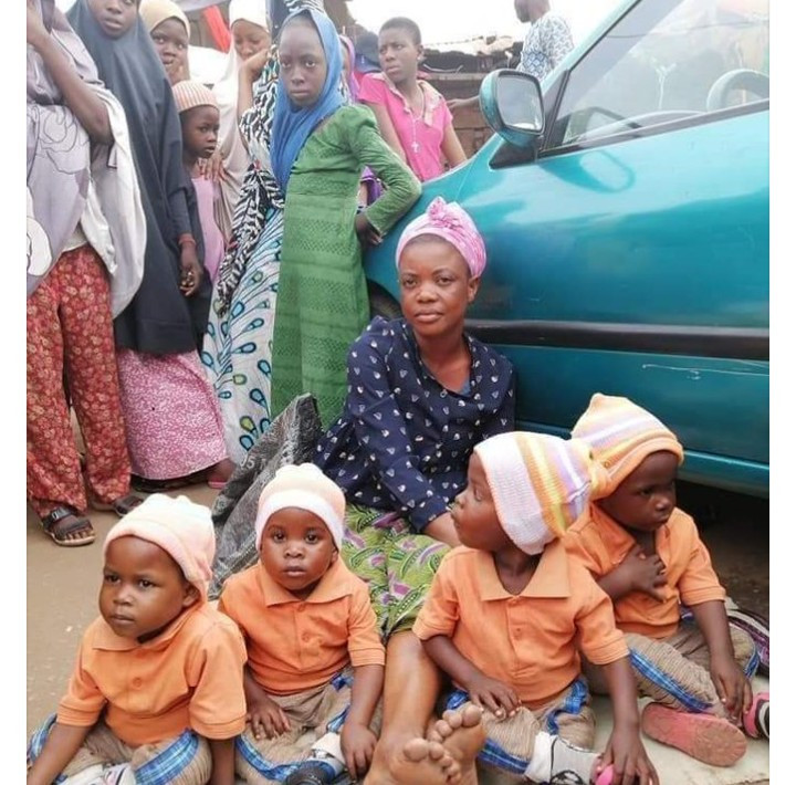 Woman who begs with quadruplets is accused of being a scammer after she vanished when asked to present the children