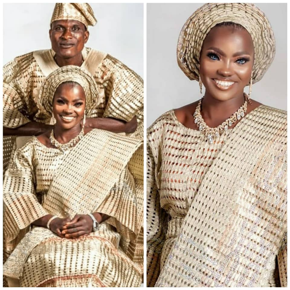 Blue-eyed Kwara woman makes peace with her husband as they team up for a lovely photo shoot
