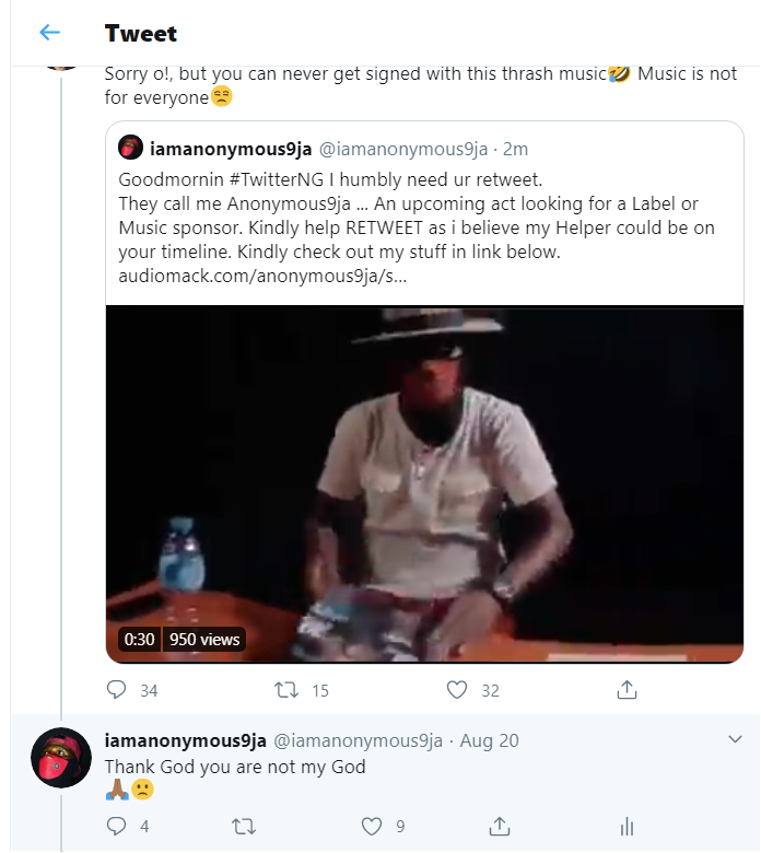 Disgrace To Reputation: Upcoming artistes will get a mega document deal after being shamed on Twitter