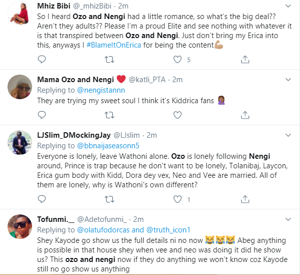 #BBNaija: Late night videos of Ozo touching Nengi triggers reactions
