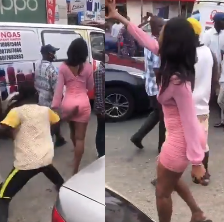Woman curses a lout who grabbed her butt in Computer Village (video)