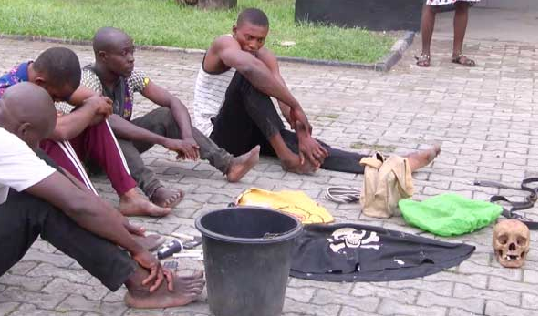 Suspected cultists arrested with human skulls in Cross River