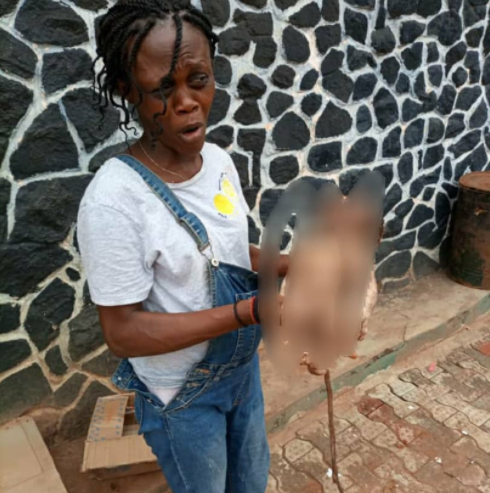 Police nabs woman who threw her newborn baby in a pit toilet