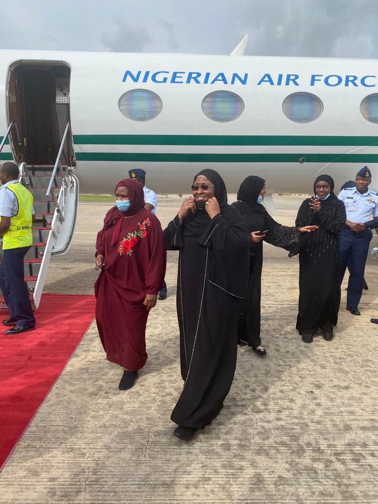 Aisha Buhari experiences plane crash scare as she returns to Nigeria from medical trip to Dubai
