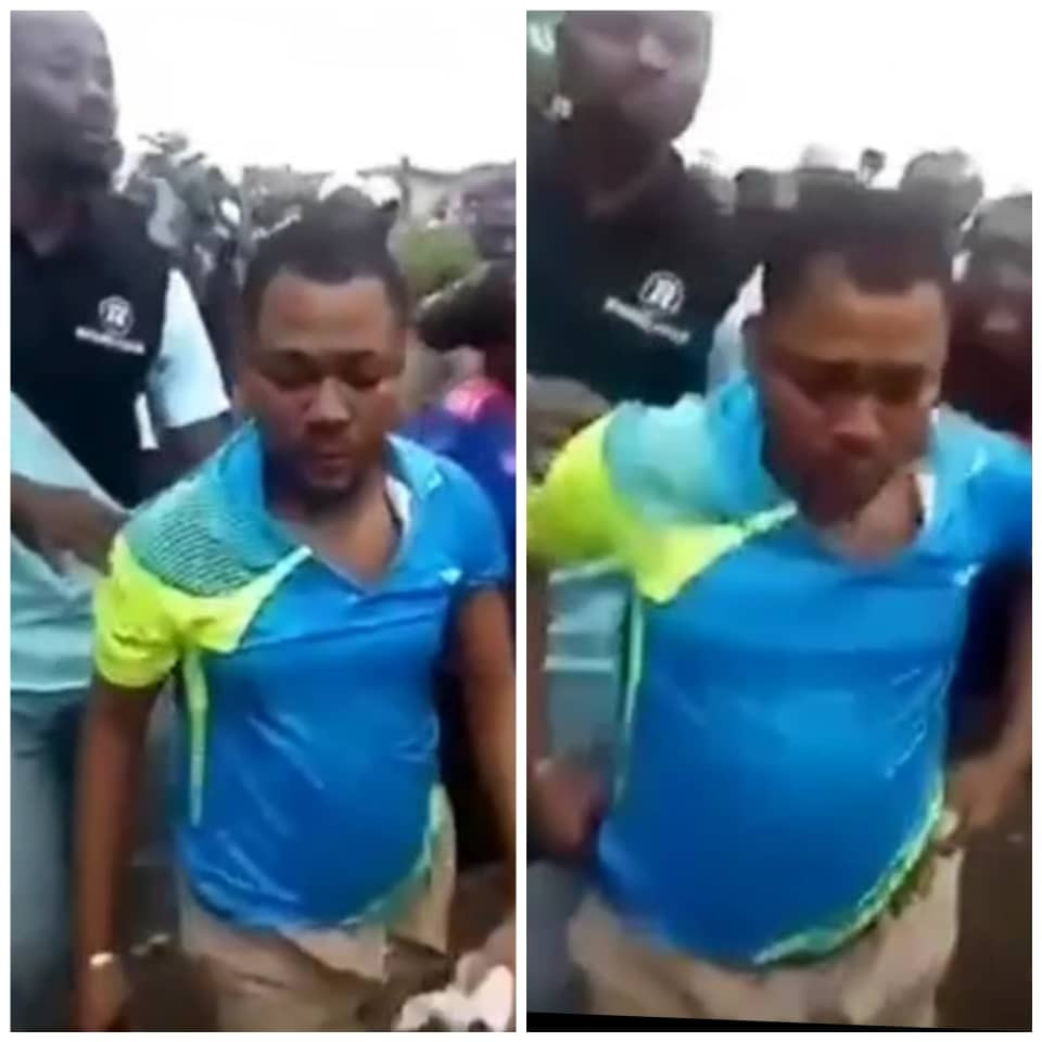 Trader arrested for allegedly eating bread and feces in Oyo (videos)
