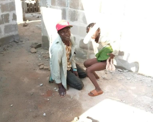 Security man caught pants down defiling girl, 8, but the girl