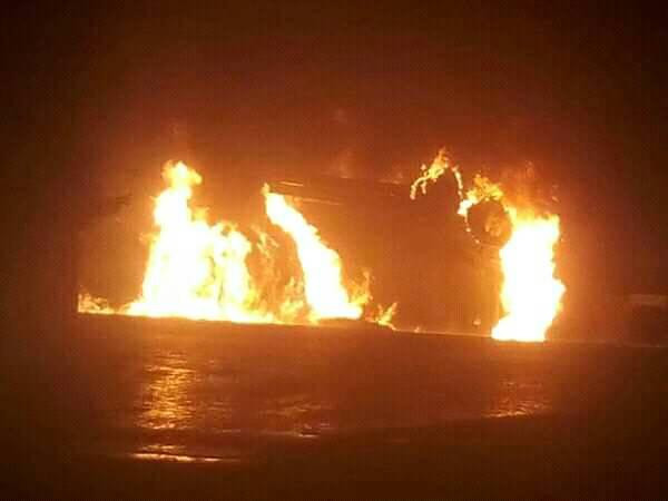 Petrol tanker explodes in front of Bauchi Polytechnic