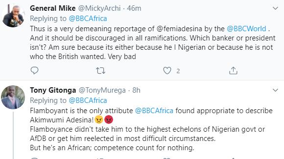 Nigerians react after BBC described re-elected AfDB president, Akinwunmi Adesina, as