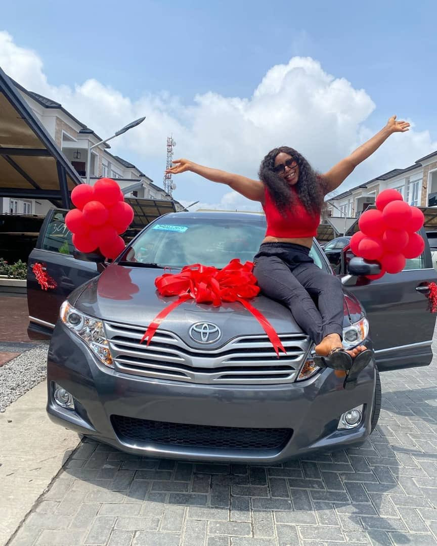 BBNaija star, Mercy Eke gifts her sister a car on her birthday (photos)