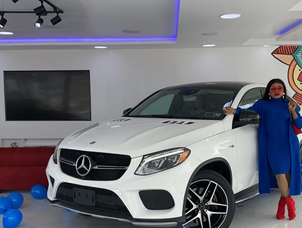 Bobrisky gifts himself a Mercedes Benz as a birthday present (photos/video)