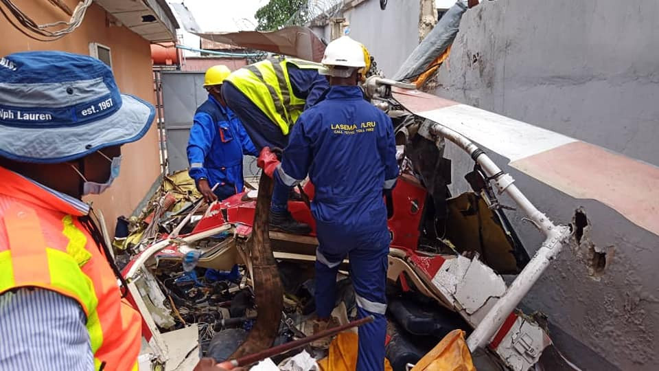Update: Victims of Lagos helicopter crash were all crew members flying from Port Harcourt into Lagos