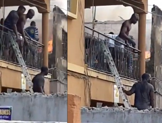 Fire guts one-storey building in Lagos (photos/Video)