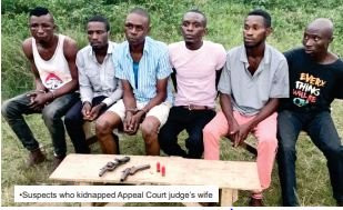 The ban on Okada operation and the Coronavirus lockdown led us into kidnapping ? Abductors of Appeal Court judge?s wife in Calabar