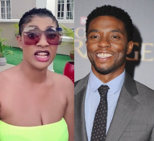 Actress Angela Okorie attacks Nigerians mourning Hollywood actor, Chadwick Boseman (video)