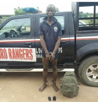 Farmer arrested for allegedly killing herdsman whose cow grazed on his farm in Oyo (photo)