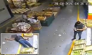 Shocking moment business owner is executed by assassin inside?Mexico?City