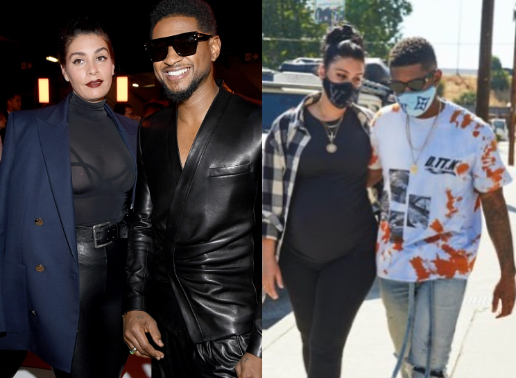 Usher and girlfriend Jenn Goicoechea
