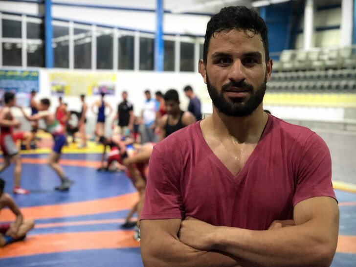 Iranian wrestler, Navid Afkari Sangari receives